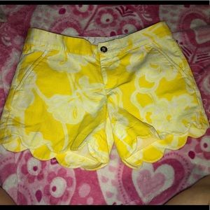 Lilly pulizter buttercup shorts size 0
